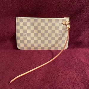 Louis Vuitton Neverfull GM Pochette Damier Azur